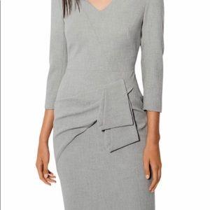 Karen Millen Gray folded pencil dress